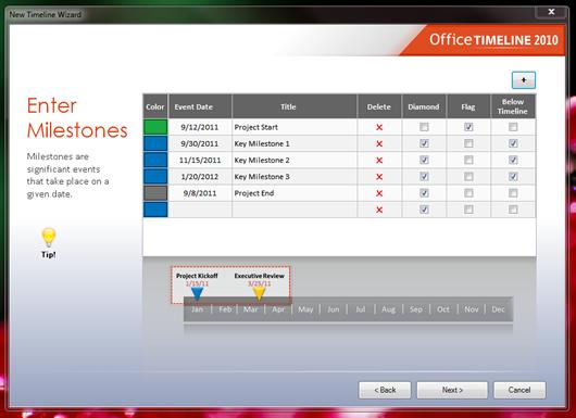 office timeline software