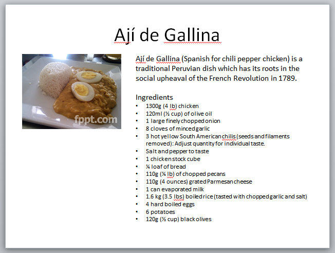 How to create a cookbook PowerPoint presentation with free PPT ...