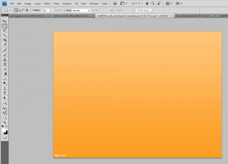 to create an internal slide in Photoshop for PowerPoint presentations