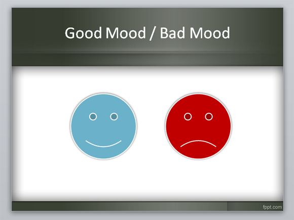 How to make a moodboard in powerpoint using this free powerpoint good mood and bad mood emoticons in powerpoint toneelgroepblik Images