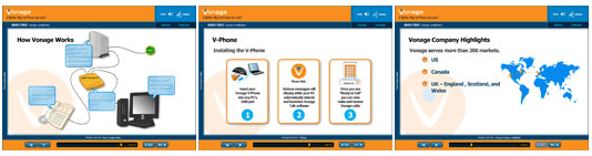 How a vonage marketing account manager elearning suite was created vonage powerpoint template toneelgroepblik Images