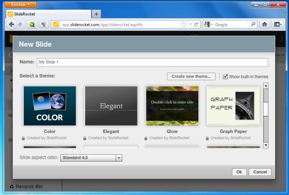 Online presentation creation