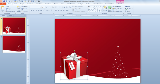 christmas boxes psd template for powerpoint presentations