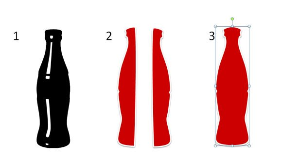 How To Draw A Coca Cola Bottle In Powerpoint 2010 Using