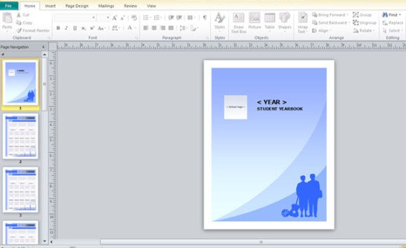 Yearbook template for microsoft publisher powerpoint for Yearbook powerpoint template
