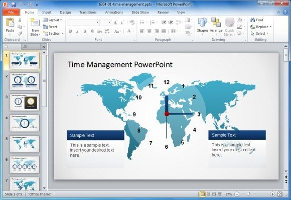 Management PowerPoint Templates and   PoweredTemplate