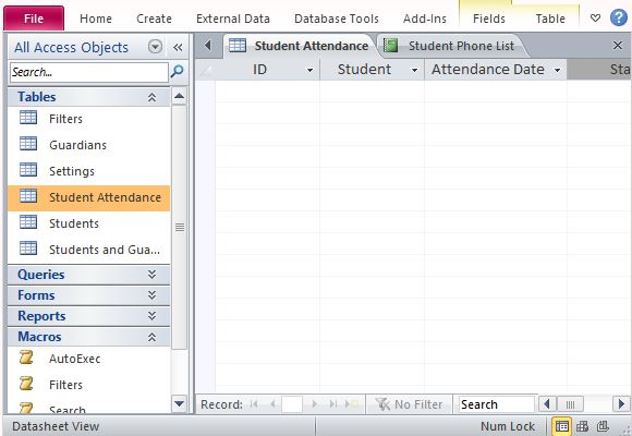 ms access template download