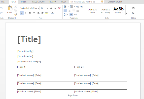 Thesis template for word 2003