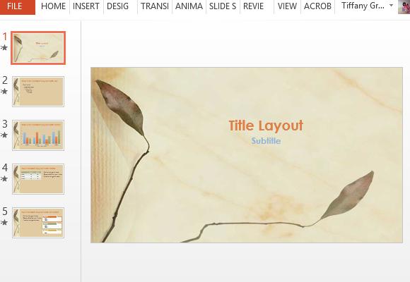 Pressed leaves powerpoint template toneelgroepblik Images