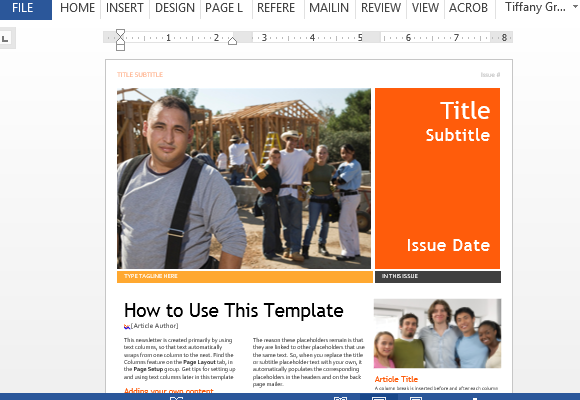 Professional Newsletter Template For Word – Newsletter Templates Word Free
