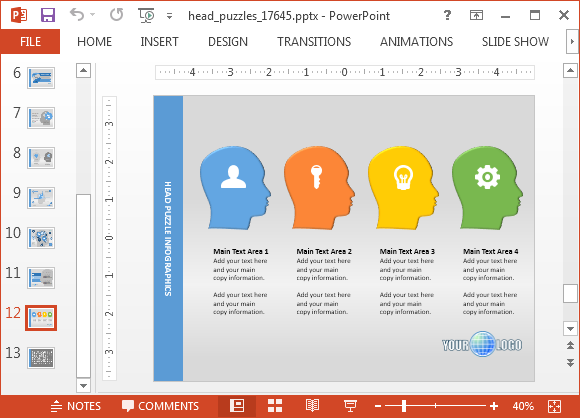 Animated mind map powerpoint template for Information mapping word template