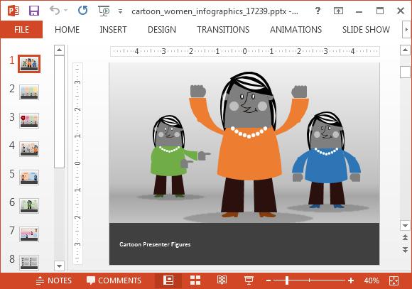 Animated Women PowerPoint Templates