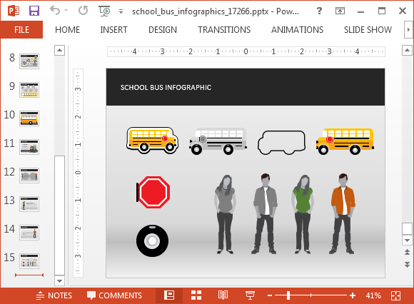 School Bus Animated PowerPoint Template