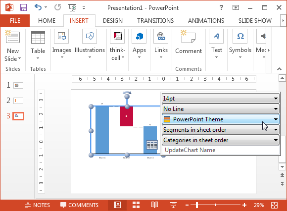 how to add on chart on powerpoint