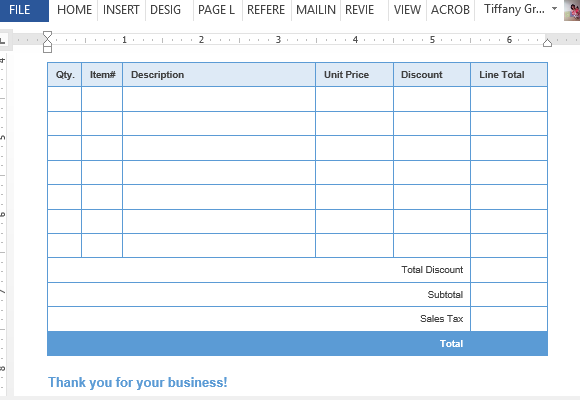 sales invoice template for word, Invoice examples