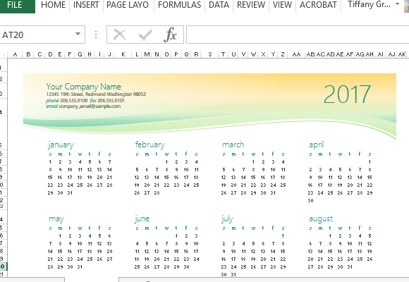 How To Make Any Year Calendar in Excel