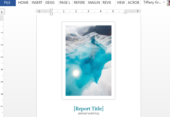 Student Report Word Template With Cover Photo – Report Word Template
