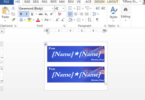 How To Make Political Campaign Bumper Stickers in Word