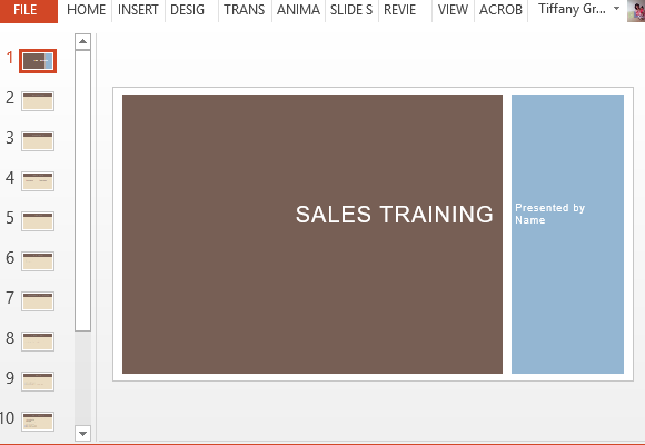 business sales training template for powerpoint