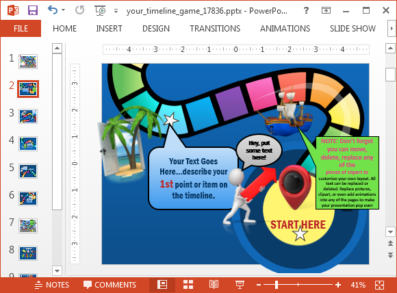 Baseball PowerPoint Template  Create Your Own Review Game