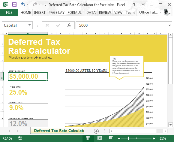 tax excel template