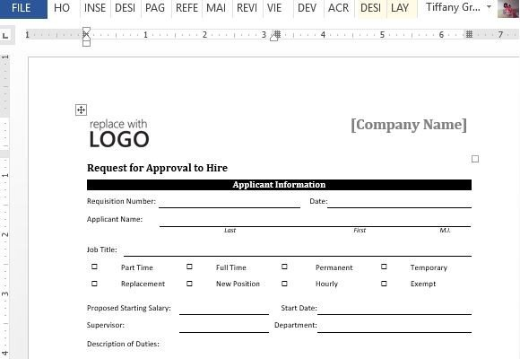 sample new hire form