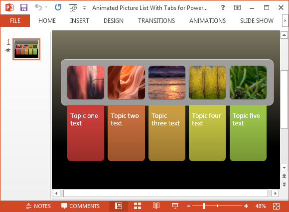 Free Animated Picture List For PowerPoint With Colorful Tabs - photo#6