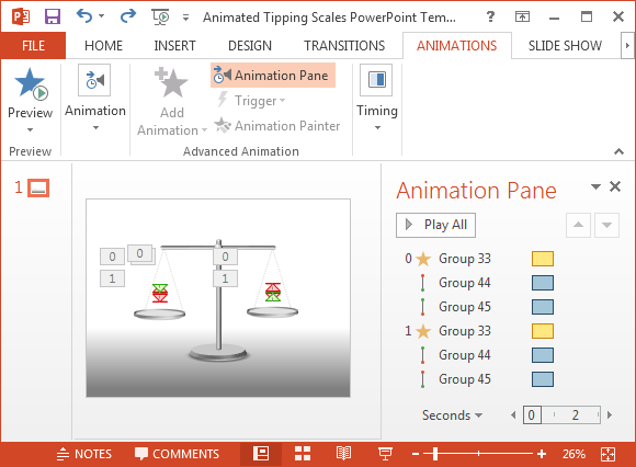 Free Animated Tipping Scales PowerPoint Template