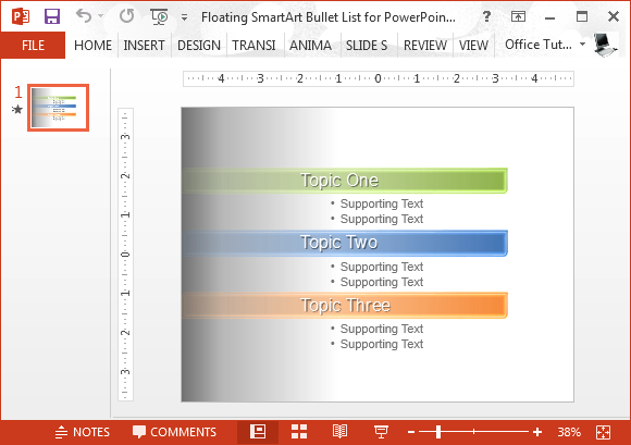 microsoft office smartart templates floating smartart bullet list for powerpoint