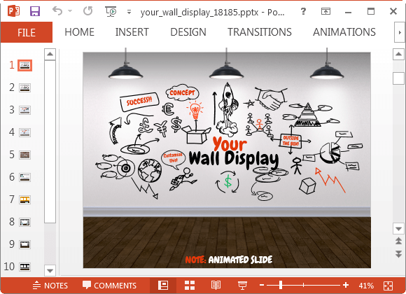 Your Wall Display Animated PowerPoint Template