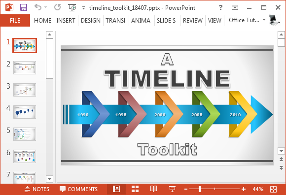 Animated timeline generator template for powerpoint toneelgroepblik Images