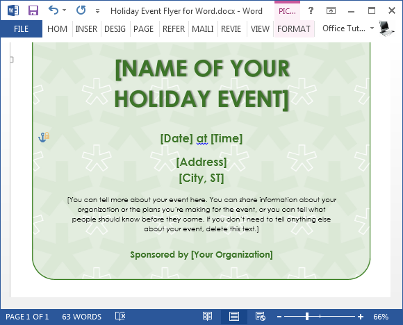 Free Holiday Flyer Template For Word – Free Holiday Flyer Templates Word