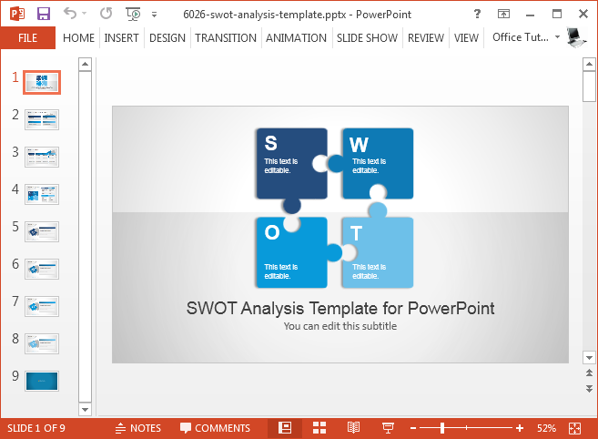 how to use a custom powerpoint template office 2016