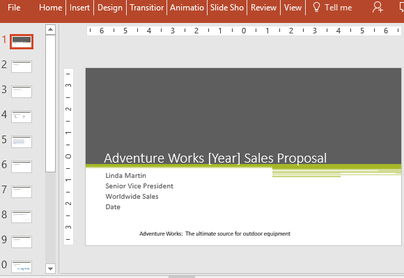 Free Sales Proposal PowerPoint Template – Powerpoint Proposal Template