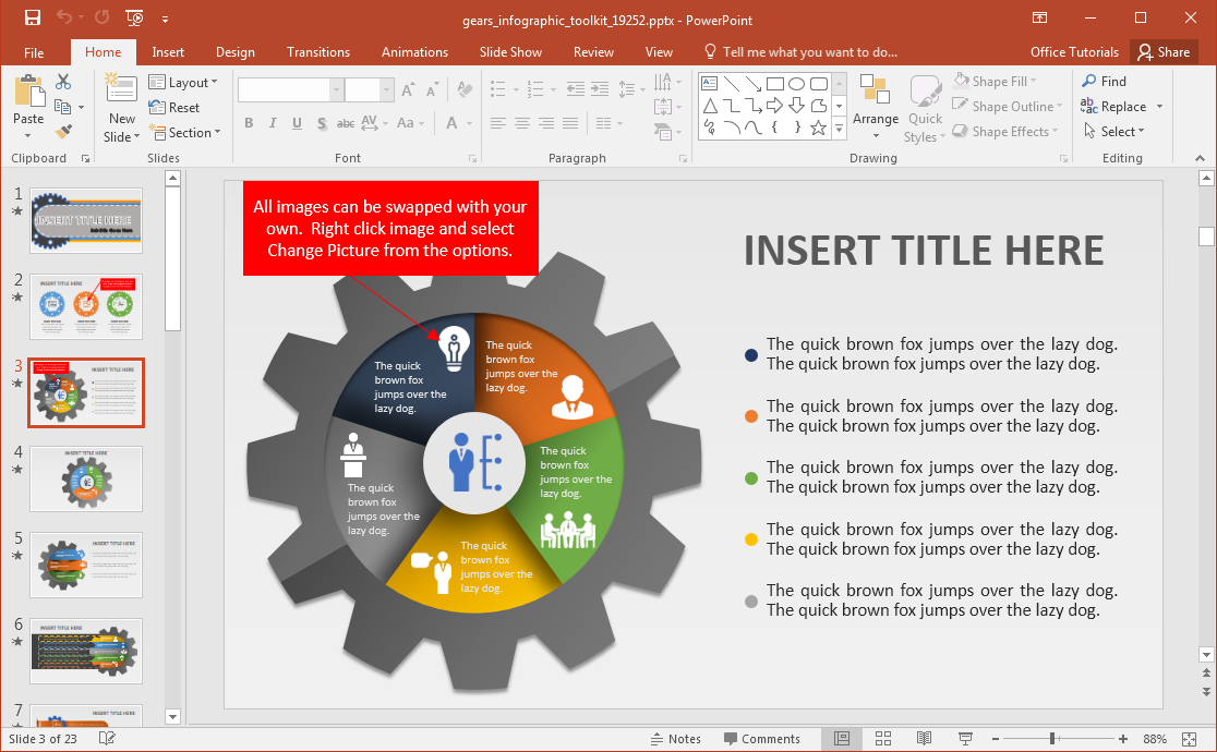 Changing Powerpoint Template