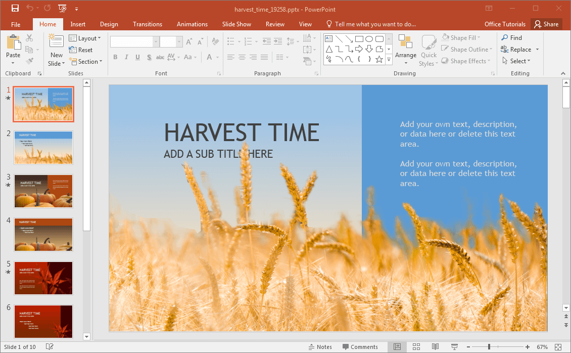 Animated harvest powerpoint template harvest powerpoint template toneelgroepblik Images