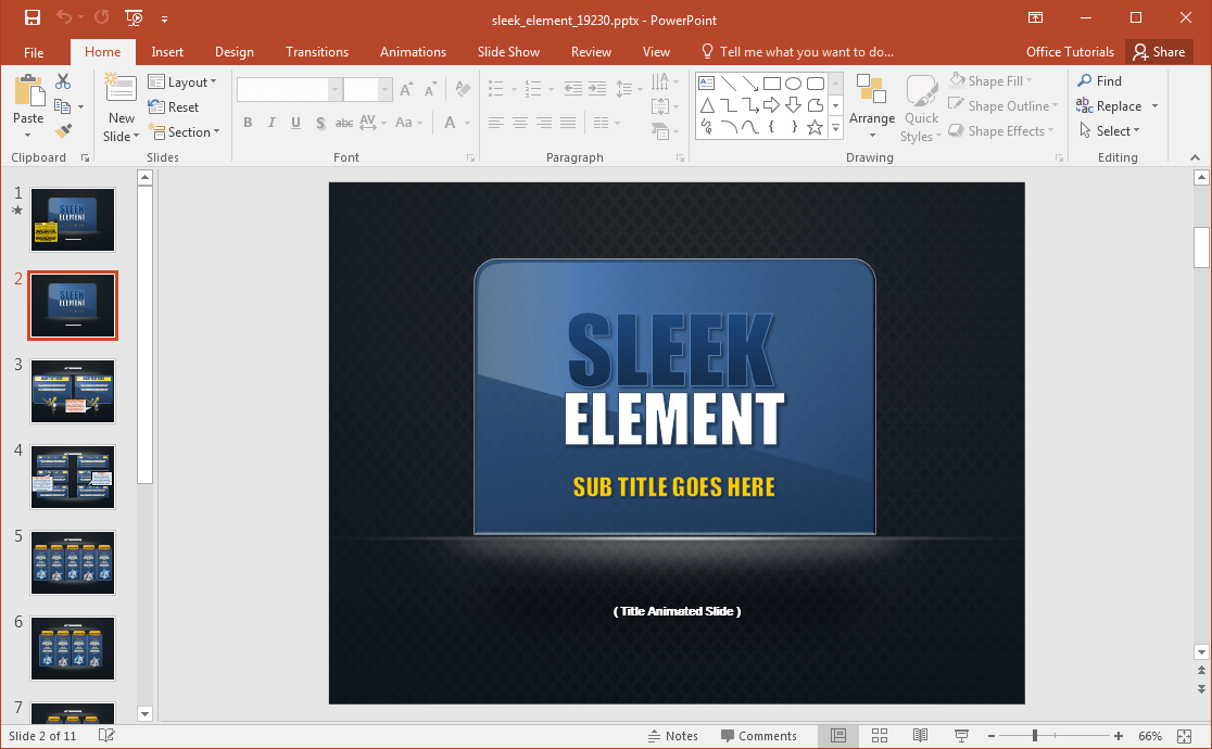 animated sleek design powerpoint template With sleek powerpoint templates
