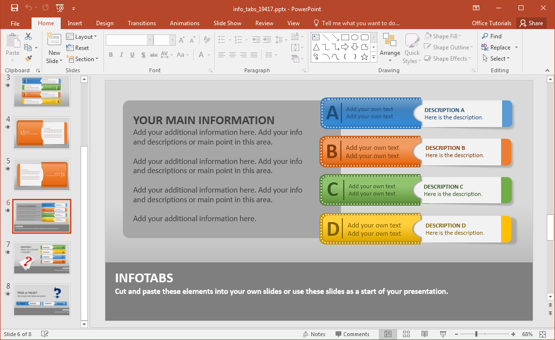 Create Animated Infographics With Info Tabs PowerPoint ...