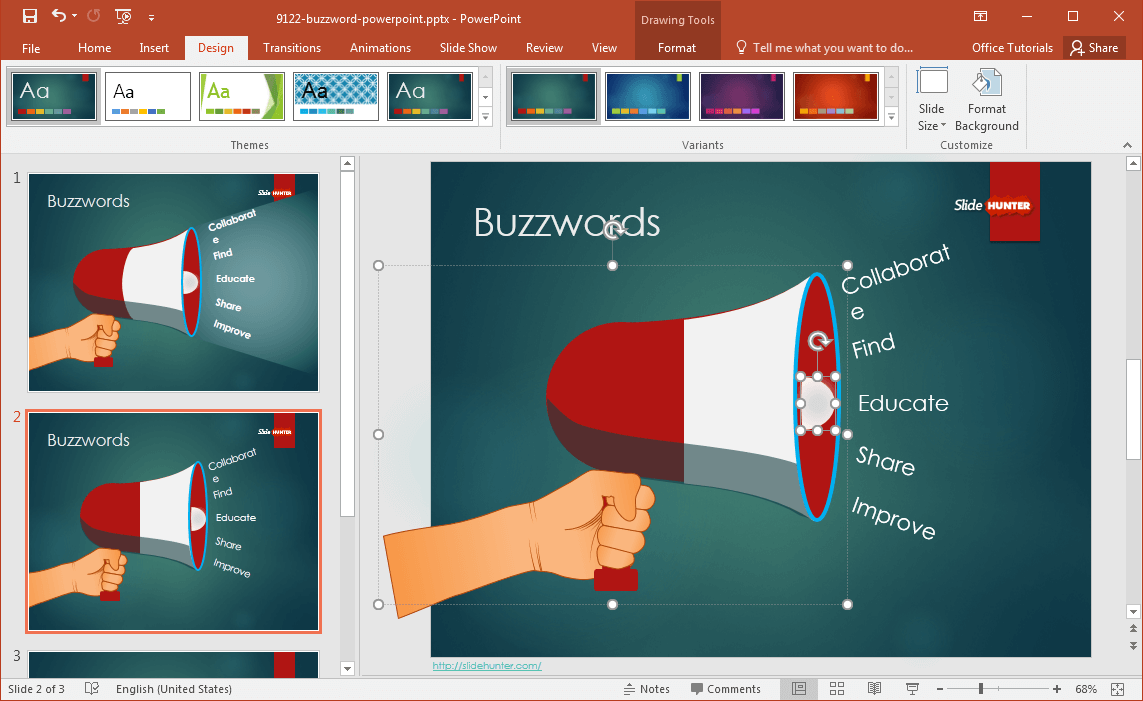 Free buzzword powerpoint template for How to modify powerpoint template