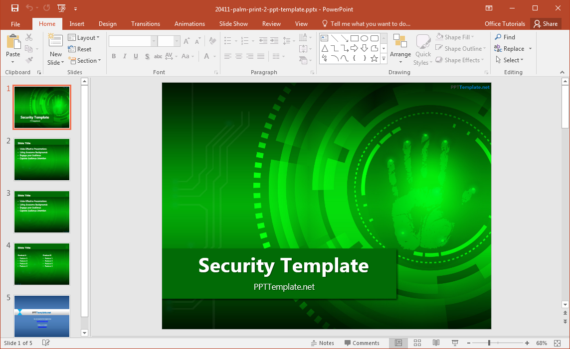 power point templates for mac - free security powerpoint template