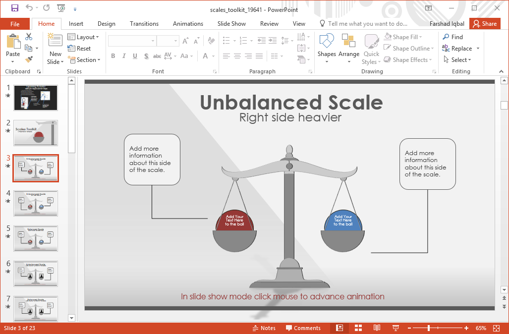 animated scales powerpoint template
