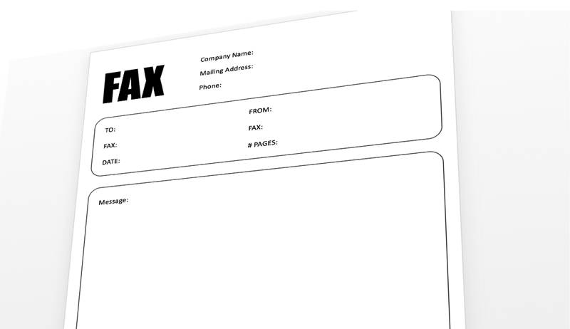Fax Cover Sheet Template for PowerPoint – Fax Cover Sheets Template