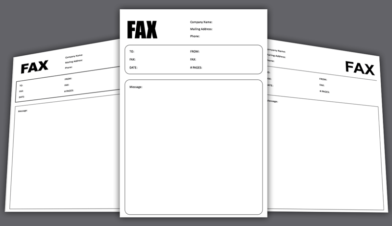 Fax Cover Sheet Template for PowerPoint – Cover Sheet Template