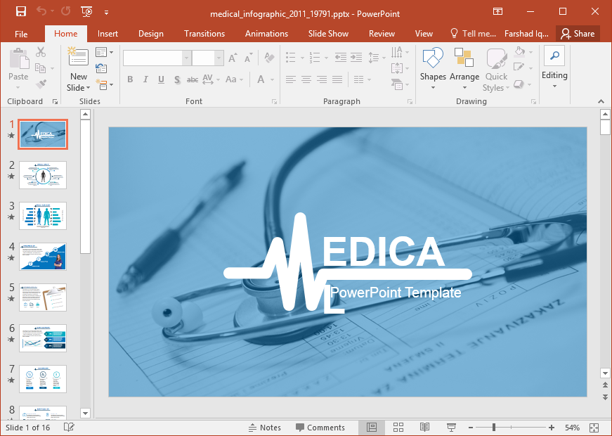 Animated Medical Infographic PowerPoint Template