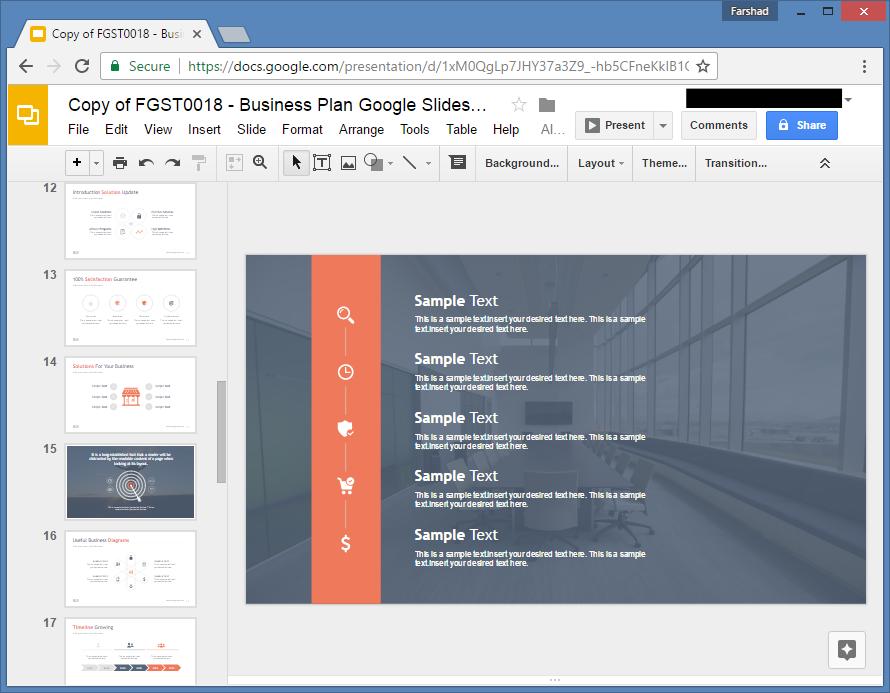 business plan template free google