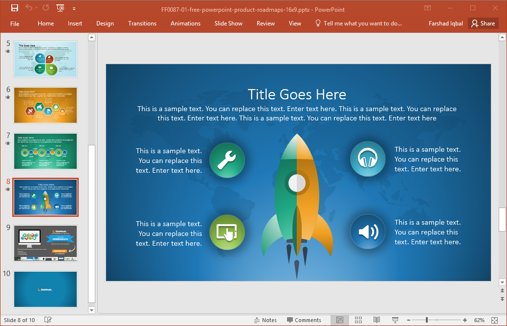 Best Roadmap Templates For PowerPoint – Roadmap Template Free