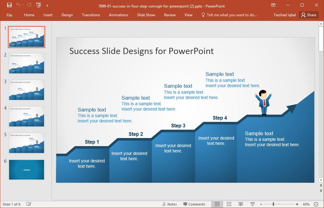 Success Slide PowerPoint Template