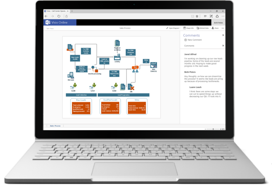access your diagrams from anywhere with microsoft visio online