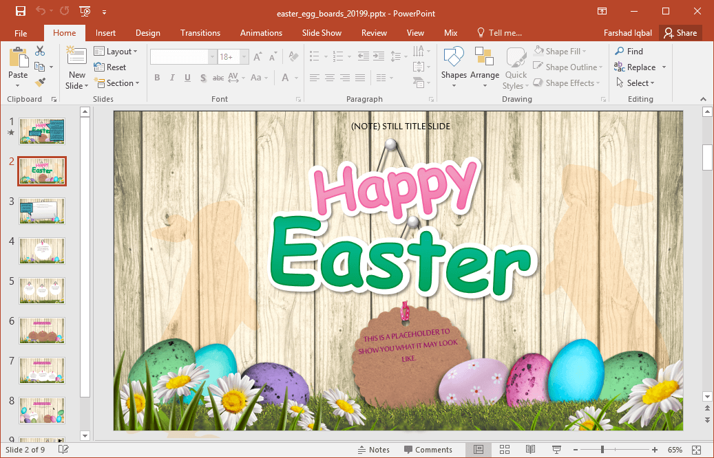Animated Easter PowerPoint Template – Sample Easter Powerpoint Template