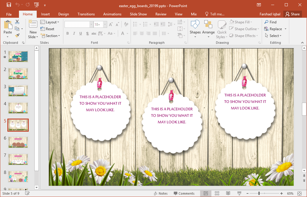 easter presentation template